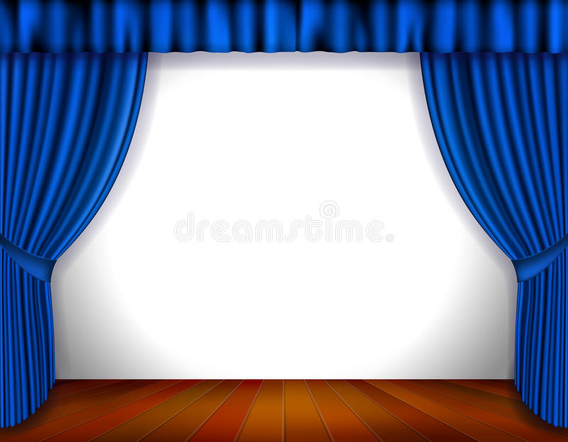 Download Blue Curtain stock vector. Image of performance, event - 28009194