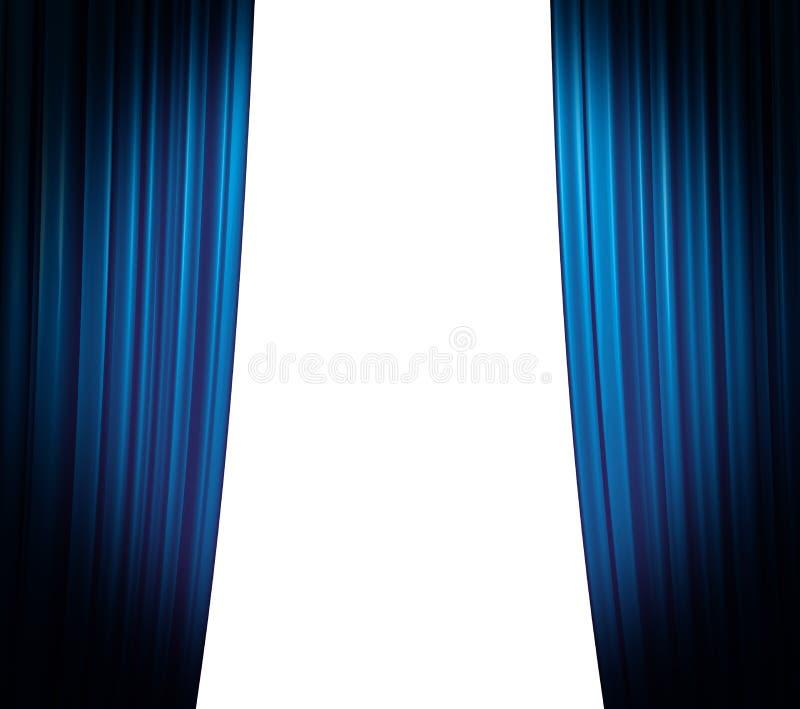 Blue Curtain Closing royalty free stock image