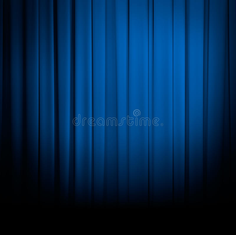 Blue curtain or drapes royalty free stock photography