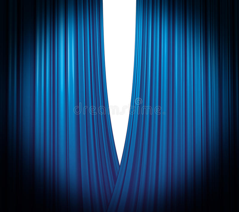 Blue Curtain Opening royalty free stock photography