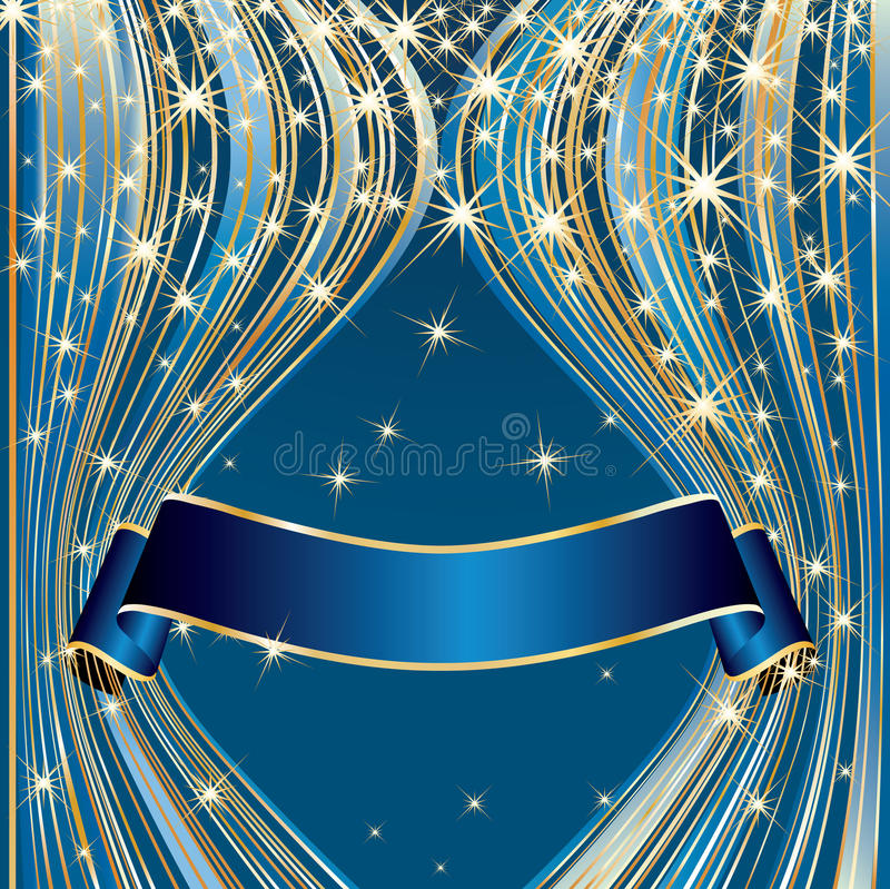 Download Blue curtain tape stock vector. Image of champion, design - 11769568