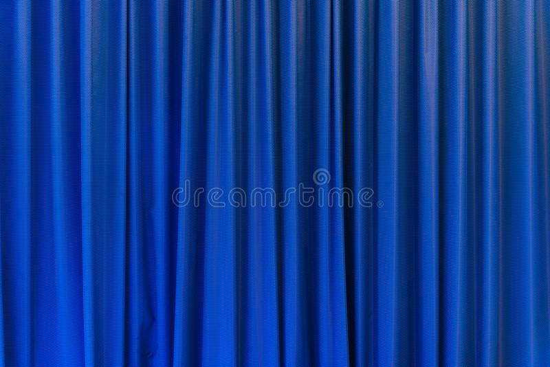 Blue curtain use for background. Blue curtain - use for background stock photo