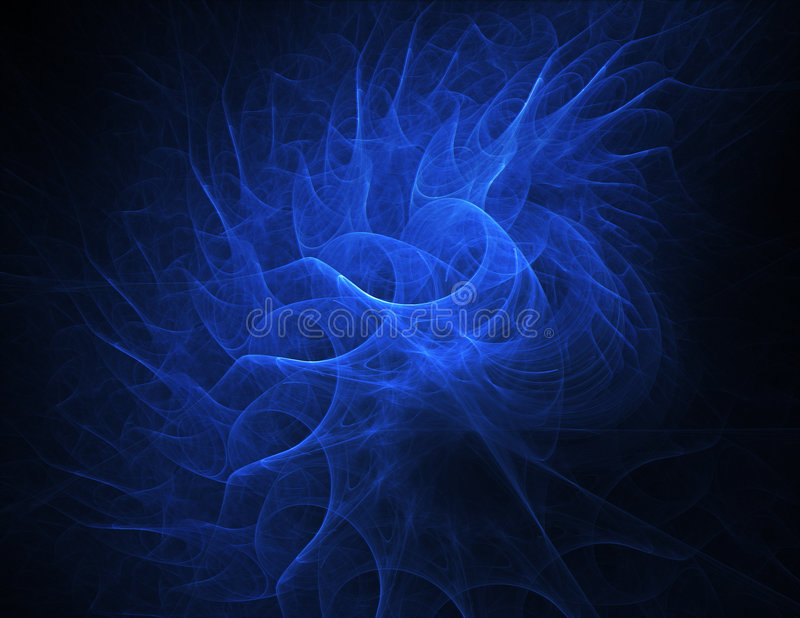Blue Curves royalty free stock photo