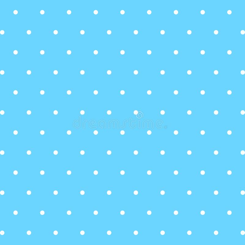Blue cute background with white dots on stock illustration