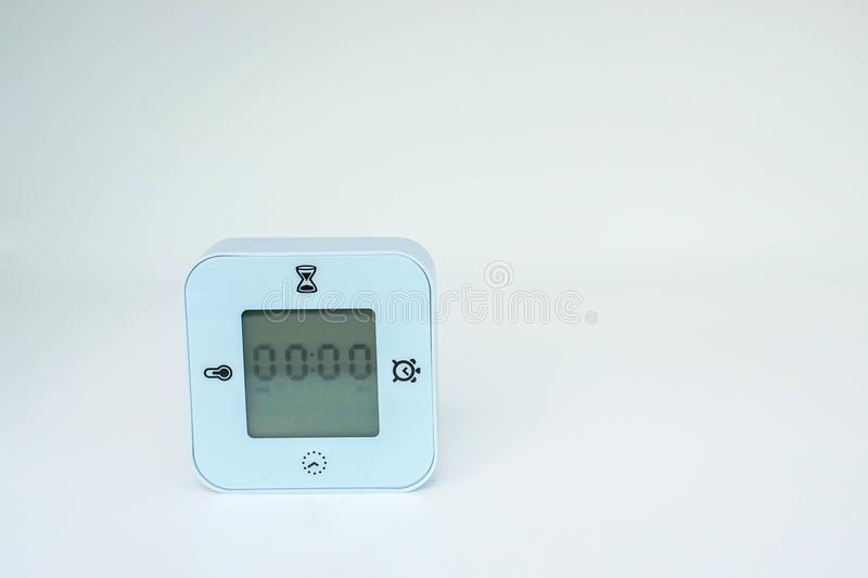 Blue cutestopwatch timer for setting in cooking stock photo