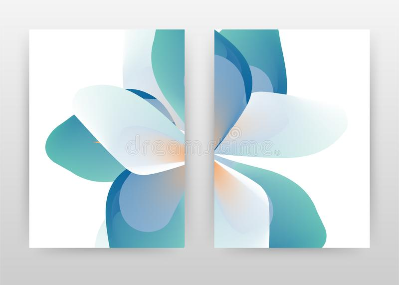 Blue cyan green flower concept design of annual report, brochure, flyer, poster. cyan flower concept background vector vector illustration