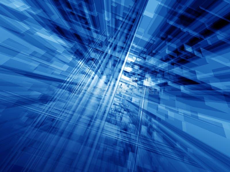 Blue cyberspace stock illustration