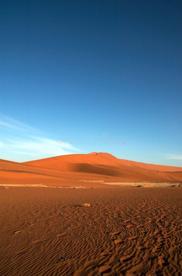blue czerwone niebo piasku. obraz royalty free