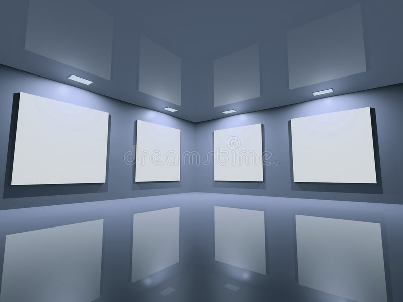 blue czystej galerii szara strona ilustracji