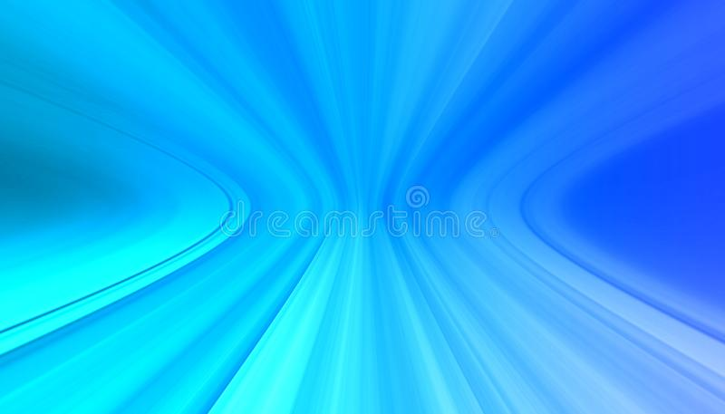 Curved blue perspective motion lines brushed gradient stock photos