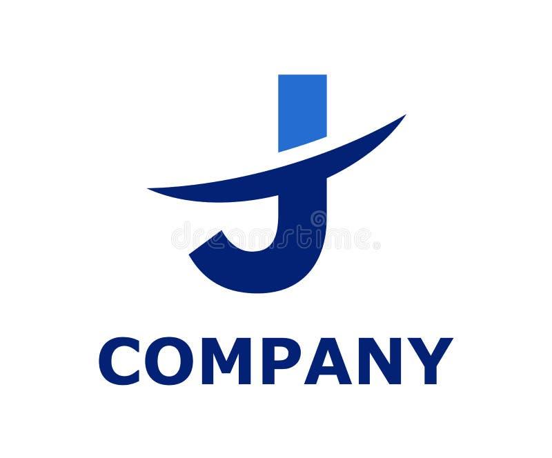 Slice alphabet logo j. Blue and dark blue color logo symbol slice type letter j by blade initial business logo design idea illustration shape for modern premium stock illustration
