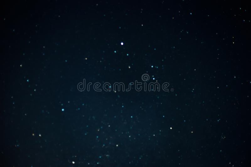 Blue dark night sky with many stars. Milky way cosmos background. The stars in the night sky. Starry blue night sky. Night scape with beautiful starry sky royalty free stock photo