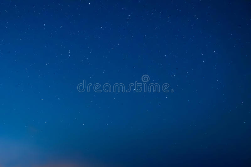 Blue dark night sky with many stars royalty free stock photos