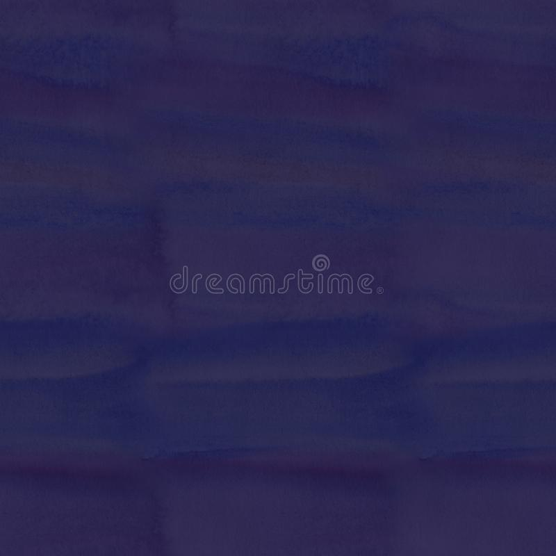 Blue dark watercolor stained pattern, abstract seamless background stock image