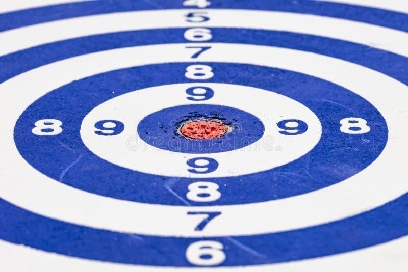 Blue dartboard close up. stock photos