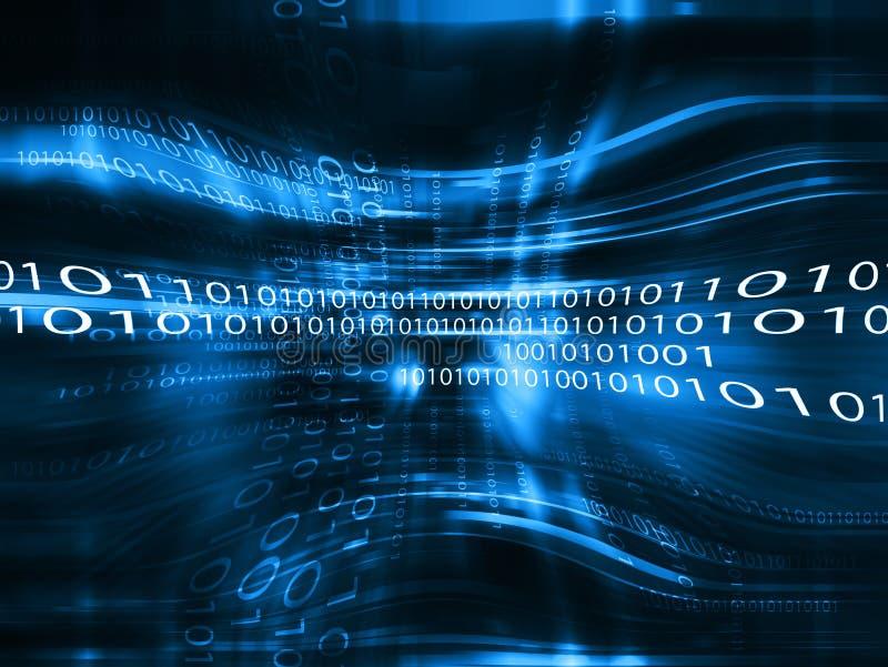 Blue data code abstract backdrop vector illustration