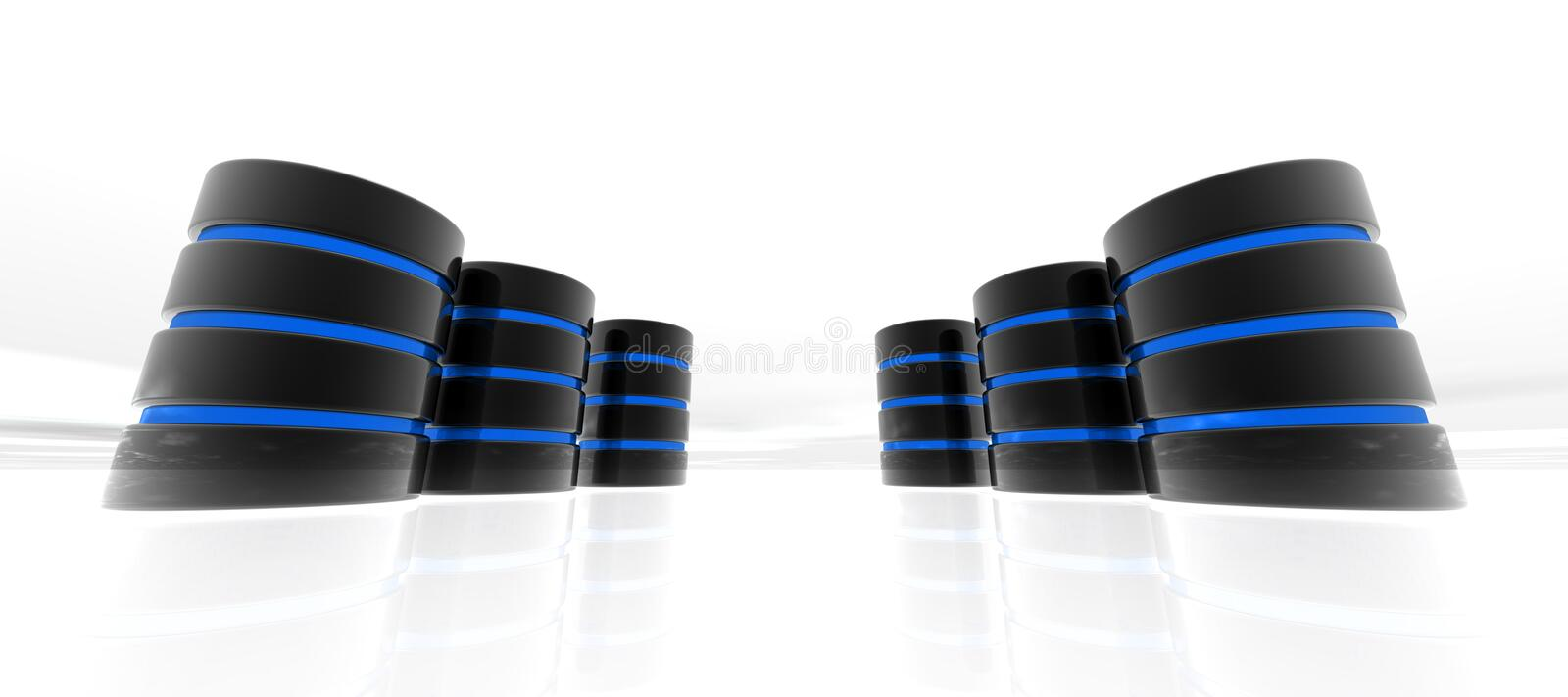 Download Blue Database In Perspective Royalty Free Stock Image - Image: 26481946