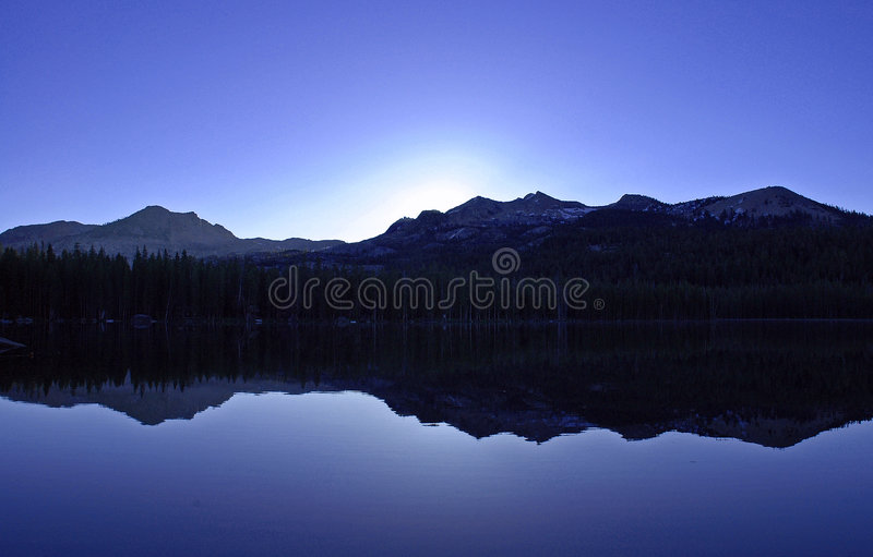 Blue Dawn royalty free stock photography