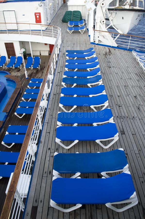 Download Blue deck chairs stock image. Image of summer, sail, ocean - 8569825