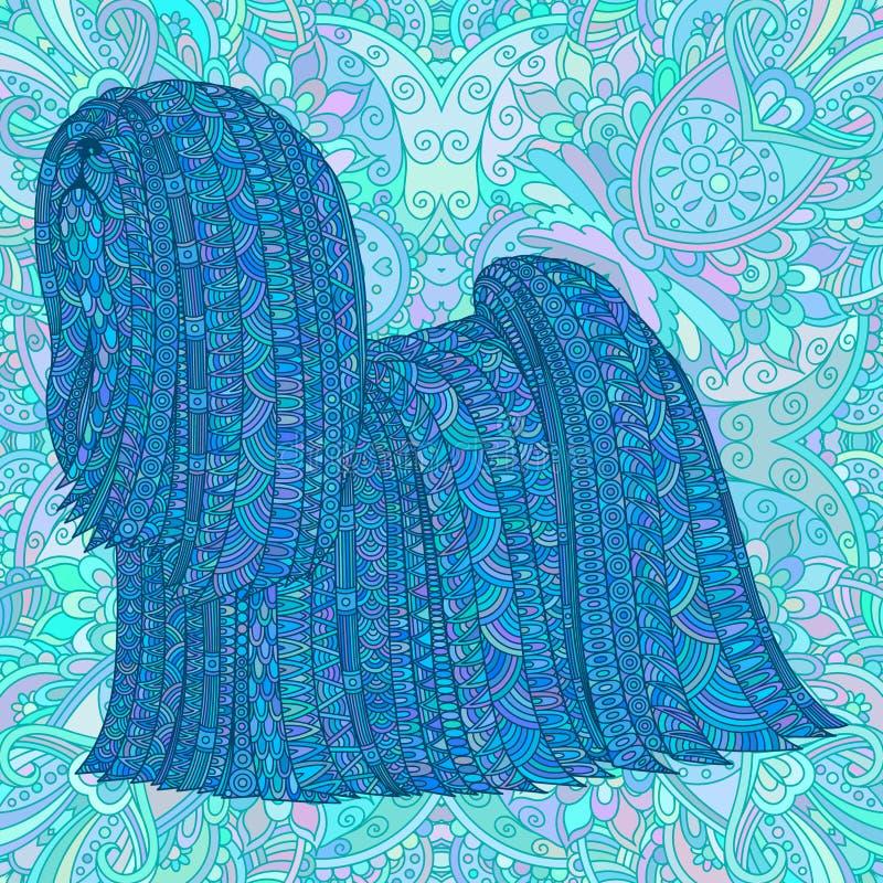 Blue decorative dog. royalty free illustration