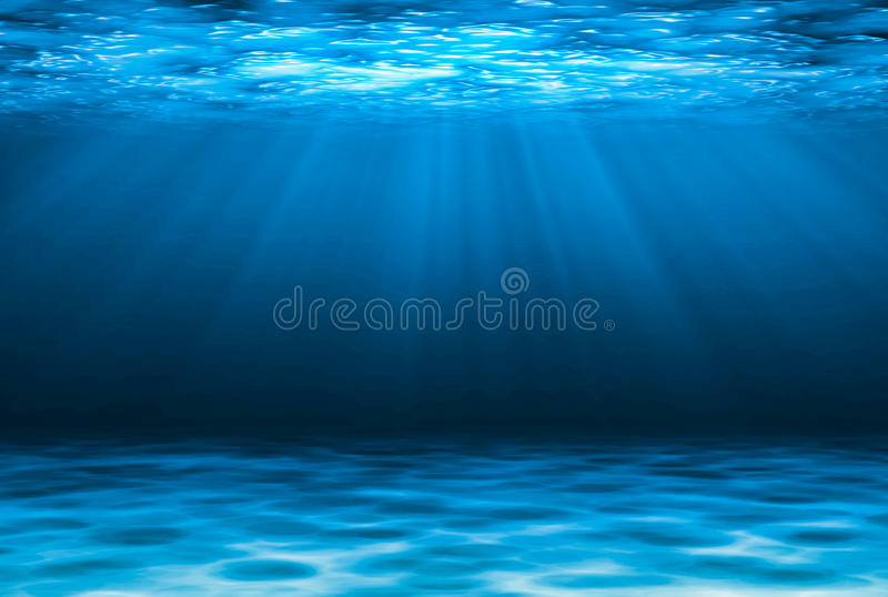 Blue deep water abstract natural background. Blue deep water abstract natural background vector illustration