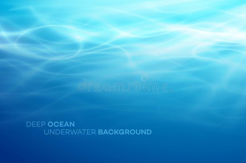 Blue deep water and sea abstract natural background. Vector illustration. EPS10 royalty free illustration