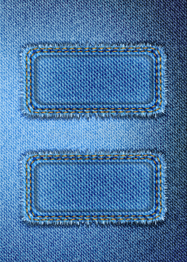 Blue denim background stock photos