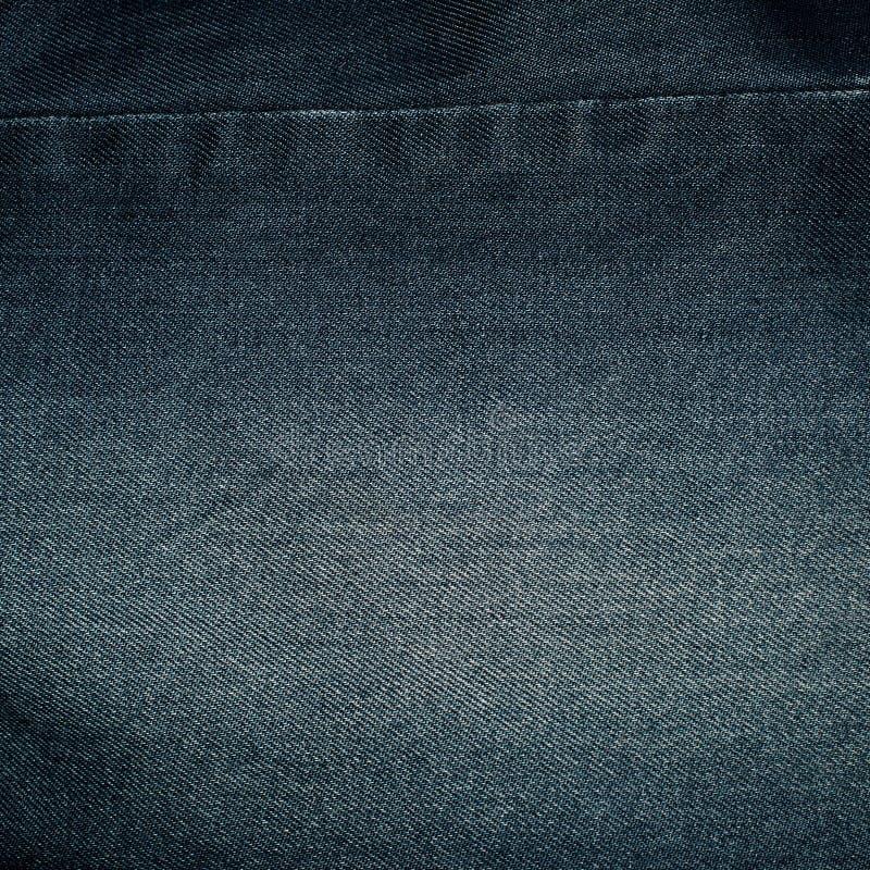 Blue denim fabric for pants. Detail stock photo