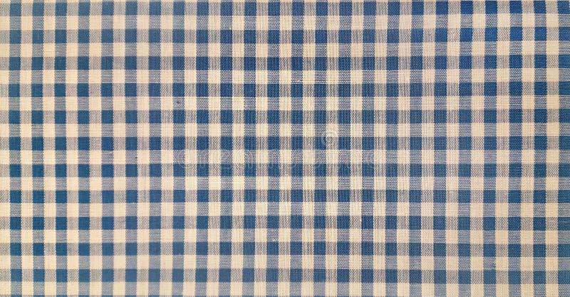 Blue denim gingham fabric. Close up of blue denim gingham fabric stock photos