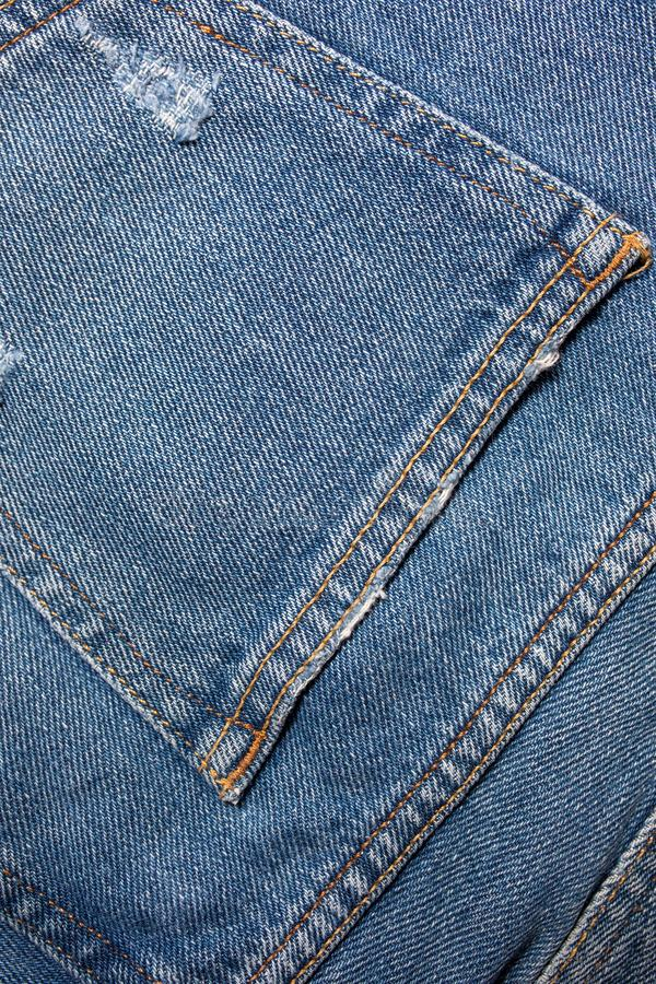 Blue denim jeans texture. Jeans background Texture of blue jean.  royalty free stock images