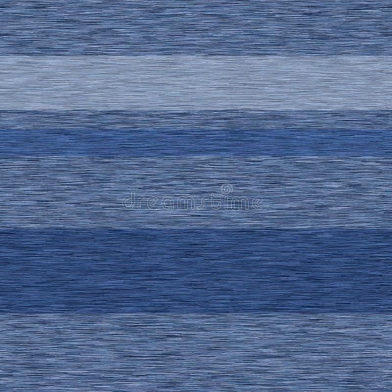 Blue denim marl stripe seamless pattern. Jeans texture fabric textile. Vector gradient cotton melange t shirt all over print stock illustration