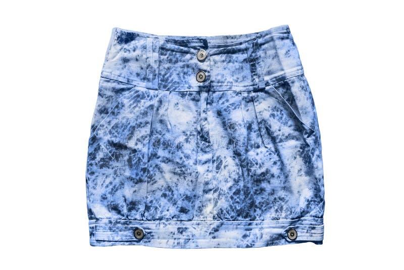 Denim skirt isolated stock photo