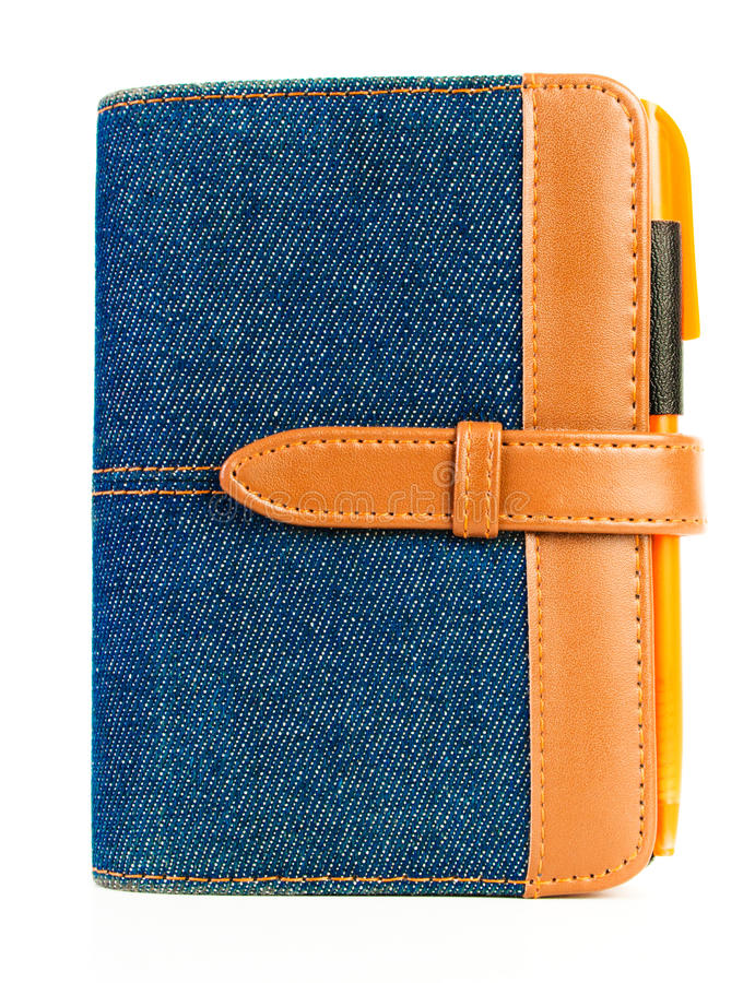 Download Blue Denim Notebook With Pen Stock Photo - Image: 28967902