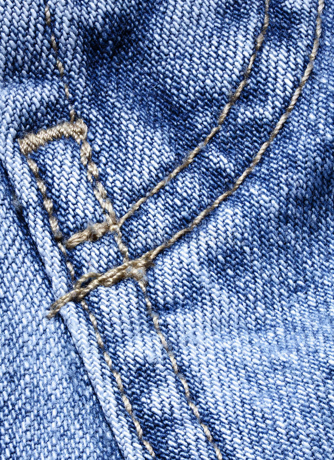 Blue denim with stitching royalty free stock photo