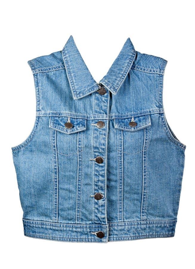 Download Blue denim vest stock image. Image of textile, garment - 19592595