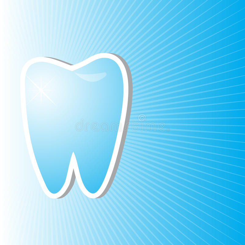 Download Blue Dental Background With Clean And Bright Tooth Stock Illustration - Image: 25990459