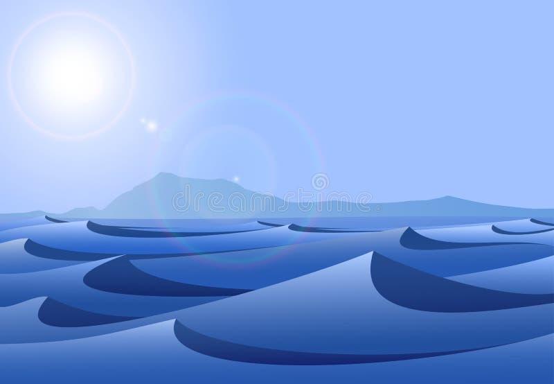 Download Blue Desert stock vector. Illustration of outdoors, area - 12268827
