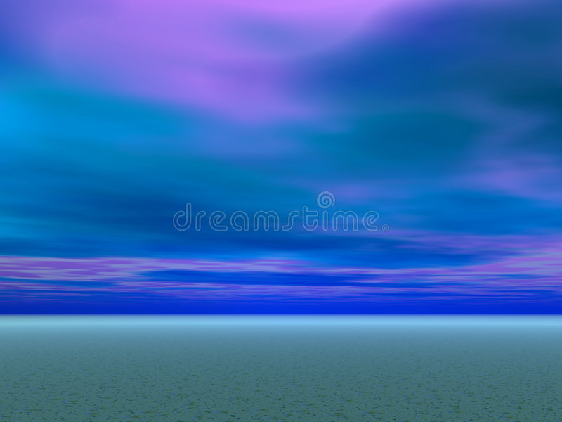 Blue Desert Skies. Blue and turquoise desert skies stock illustration
