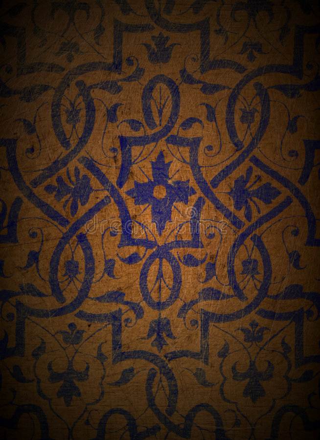 Blue Design on Wood 1 royalty free stock photo