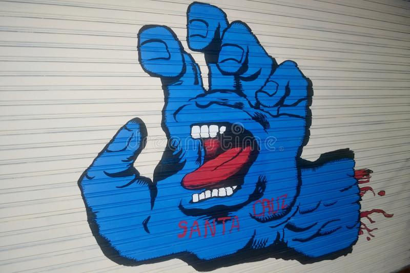 Blue Devil's Hand royalty free stock image