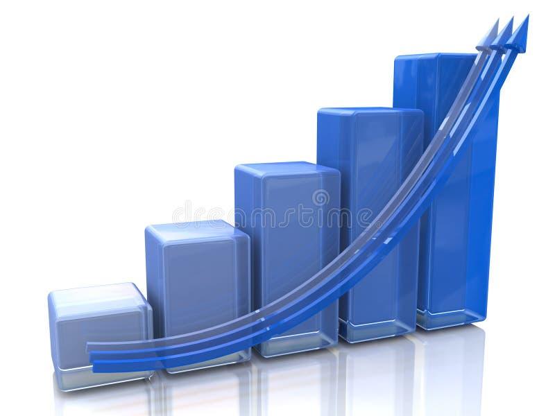 Blue diagram royalty free stock photos