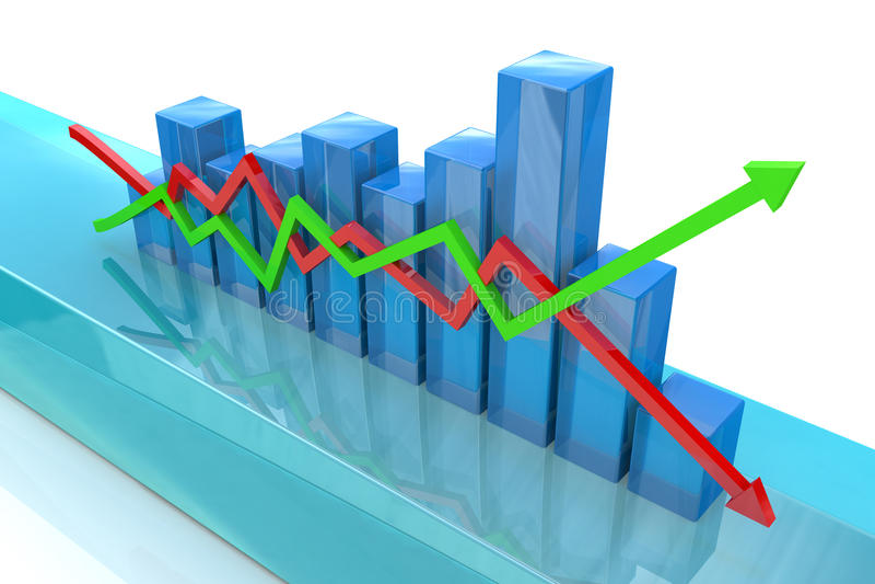 Blue diagram stock image