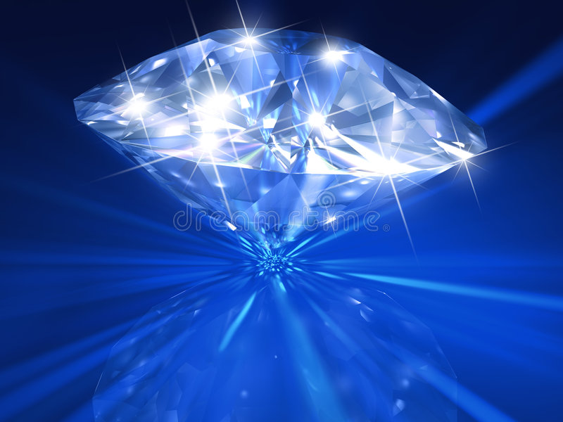 Blue diamond stock illustration