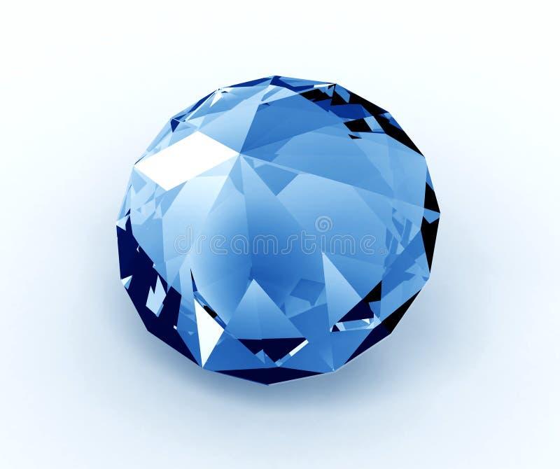 Blue diamond royalty free illustration