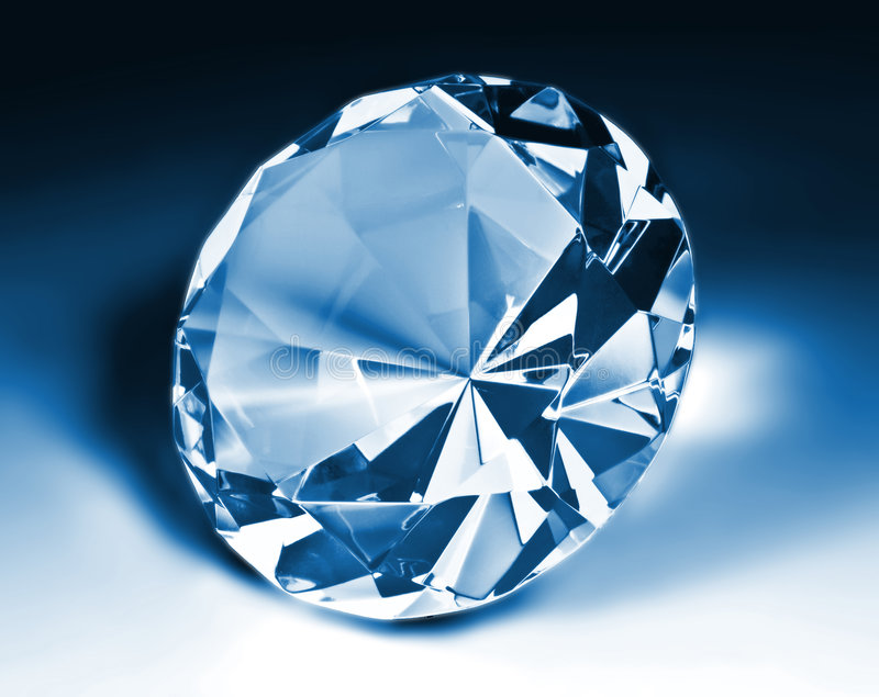 Blue diamond royalty free stock images