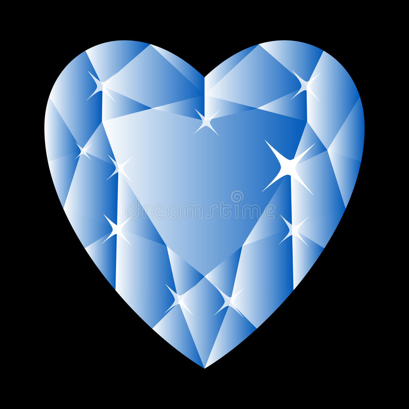 Blue diamond - vector royalty free illustration