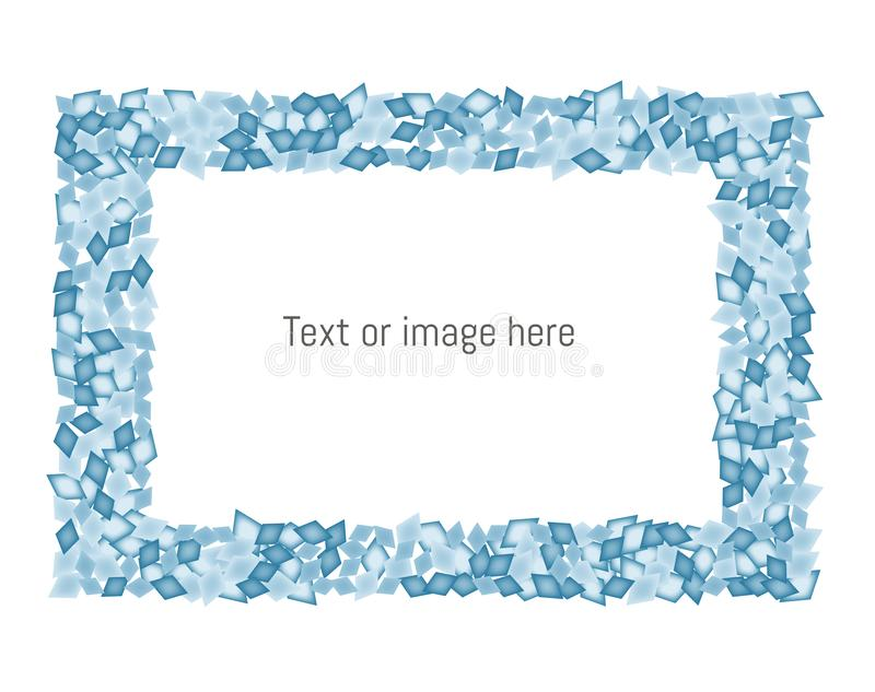Blue diamonds frame with space for text/ image. Vector illustration. Usable for different purposes vector illustration