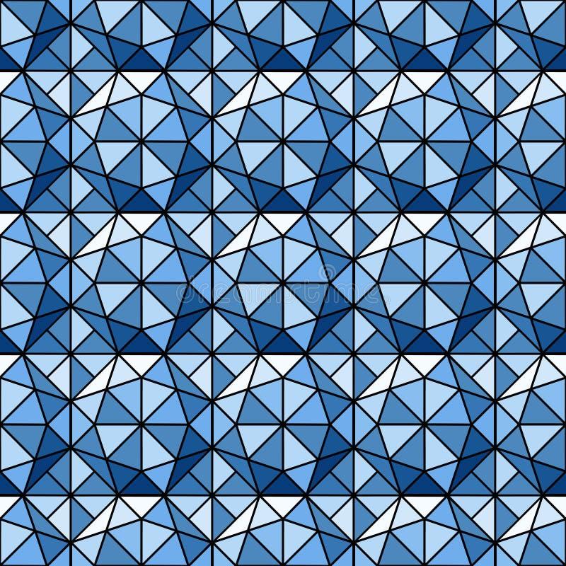 Blue Diamonds Ornament royalty free illustration