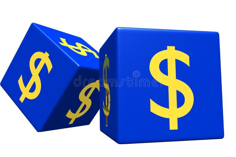 Blue dice vector illustration