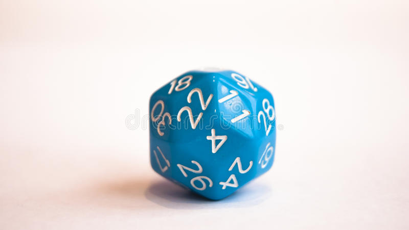 Blue dice royalty free stock photos